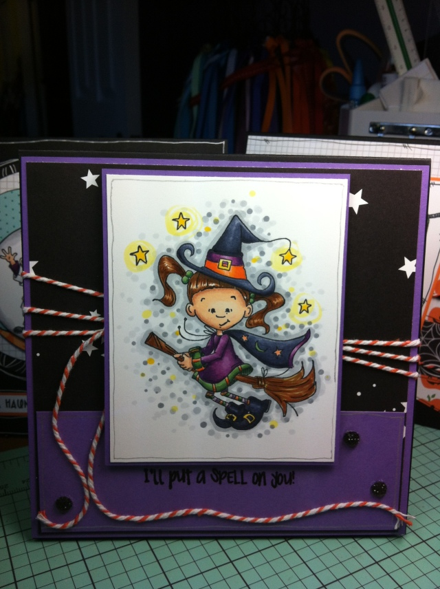 I'll Put a Spell on You Card # 1 I was pretty cautious with this first one