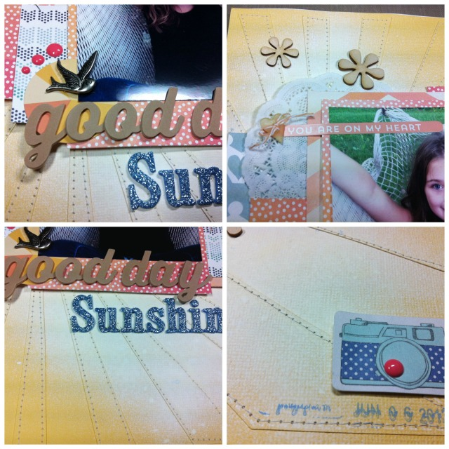 Good Day Sunshine. Created using the Citrus Twist September Kit.