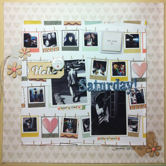 Hello Saturday! This layout was created almost entirely using the Citrus Twist September kit, Magical, with the Big Deal Embellies